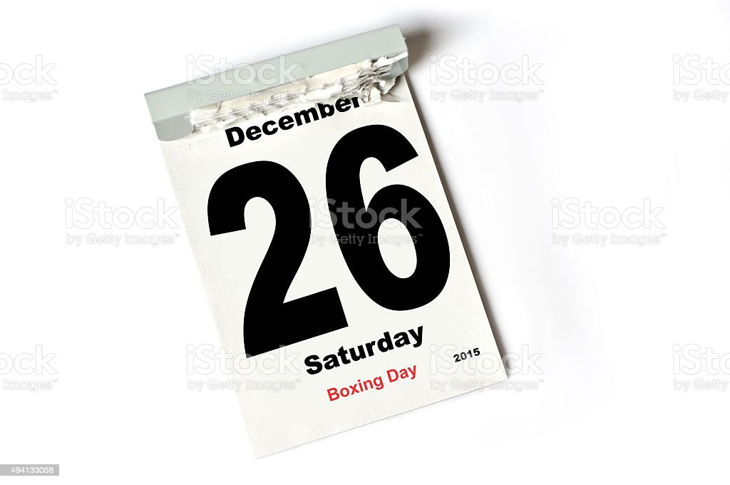 26. December 2015 Boxing Day stock photo