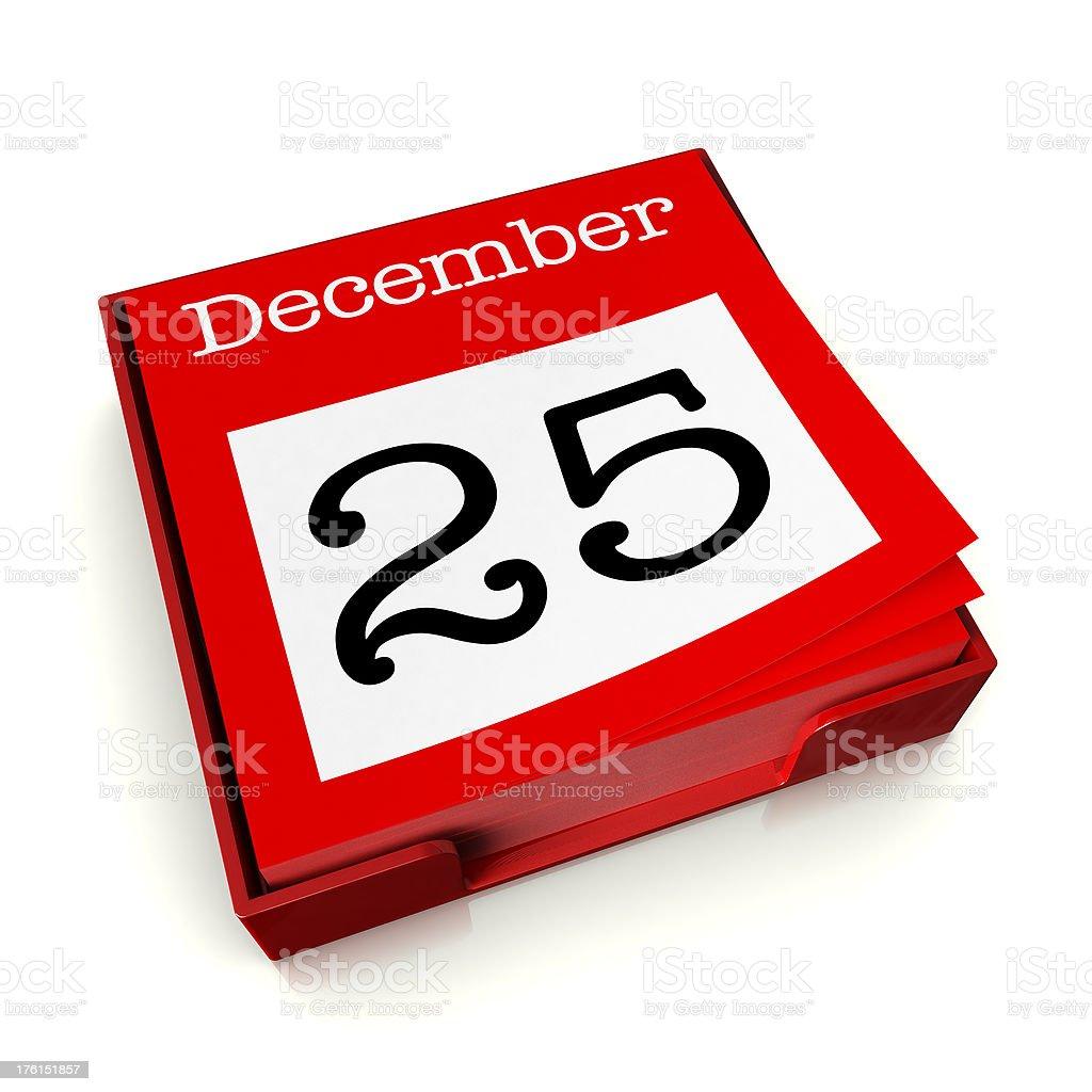 December 25th stock photo