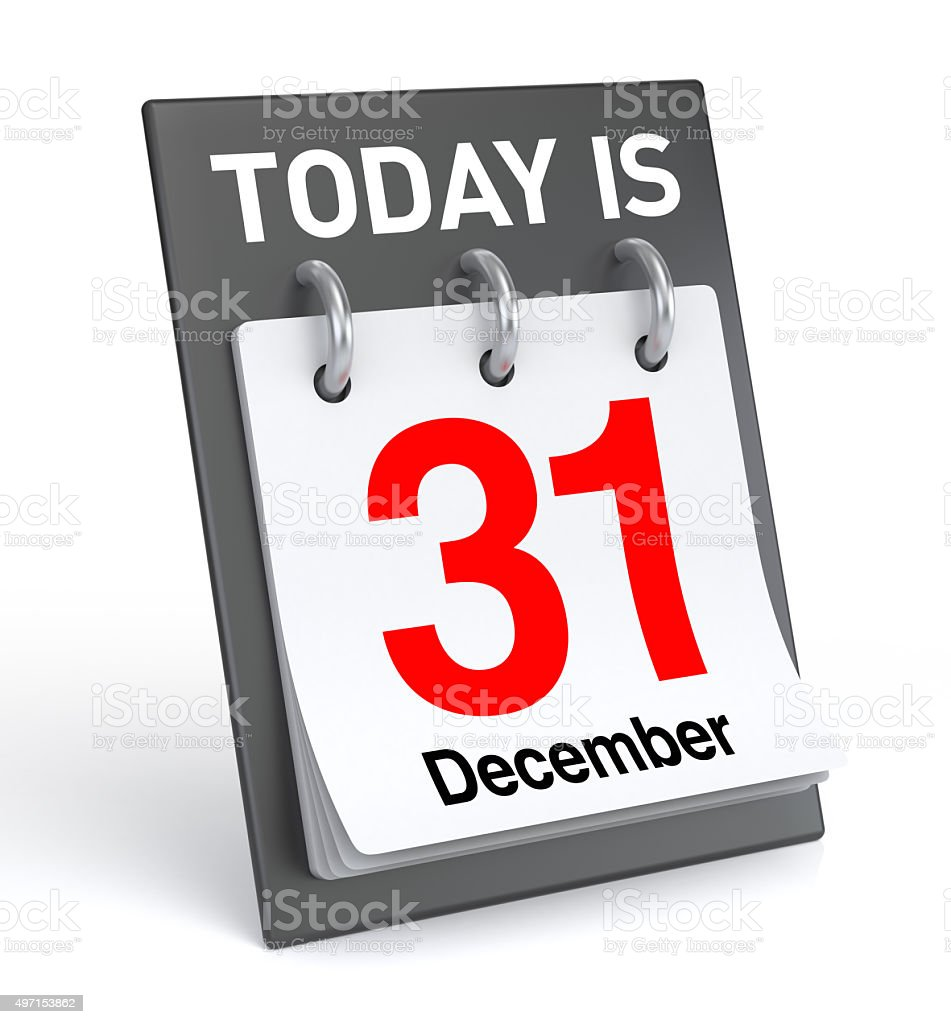 December 31 Calendar stock photo