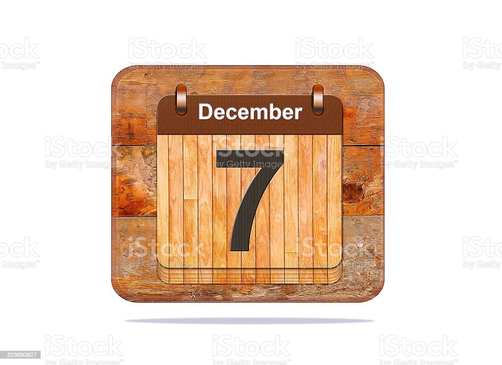 December 7. stock photo