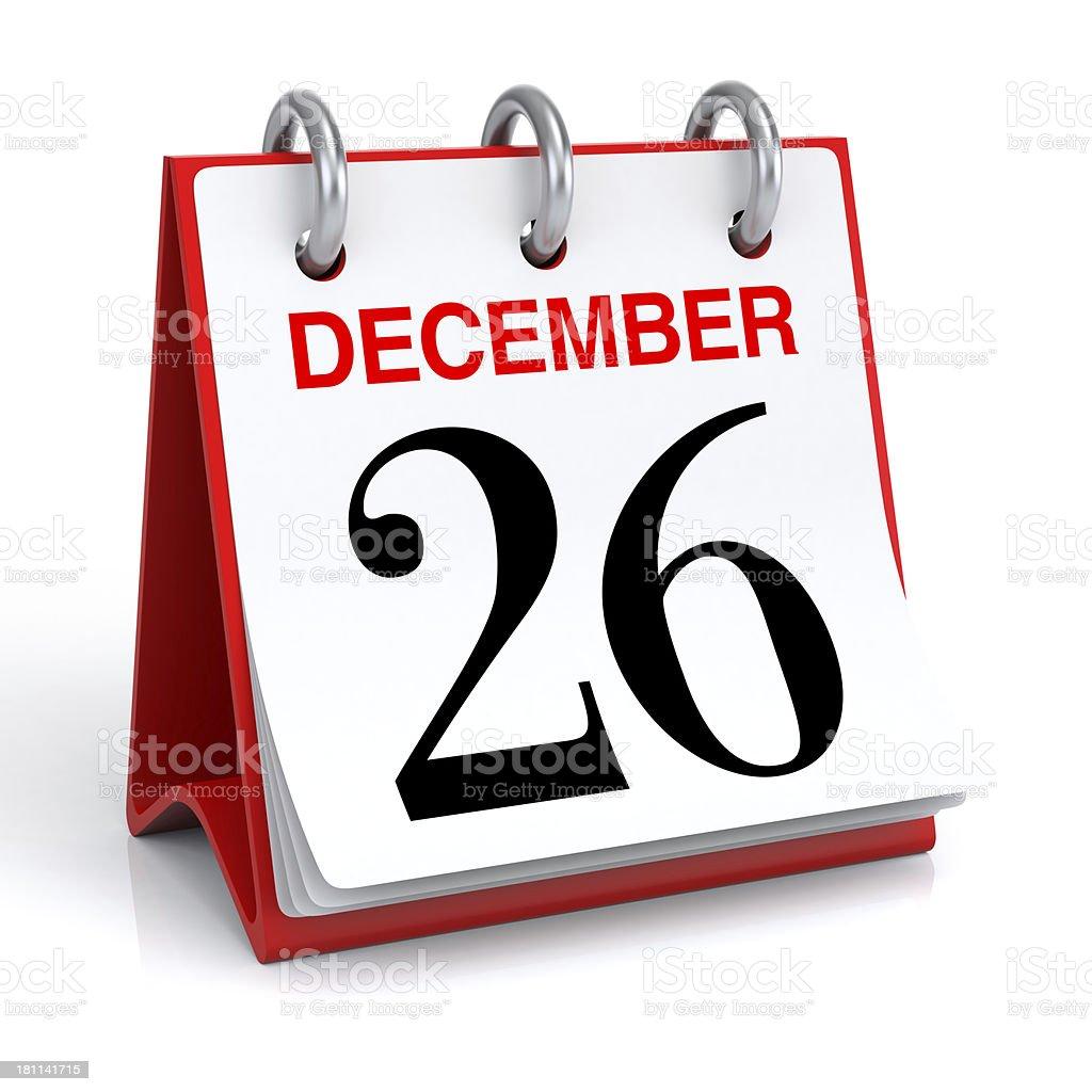 December Calendar stock photo