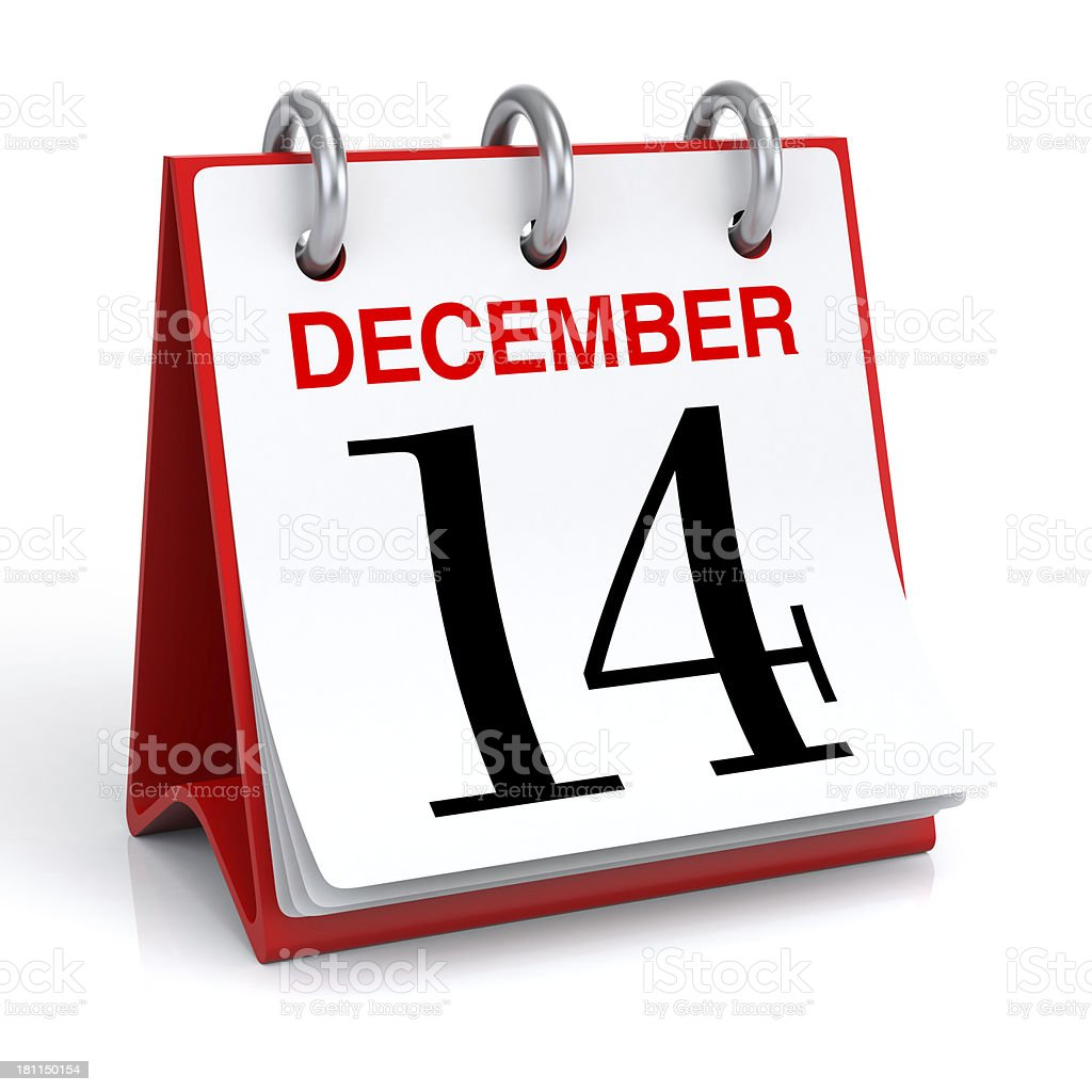 December Calendar royalty-free stock photo