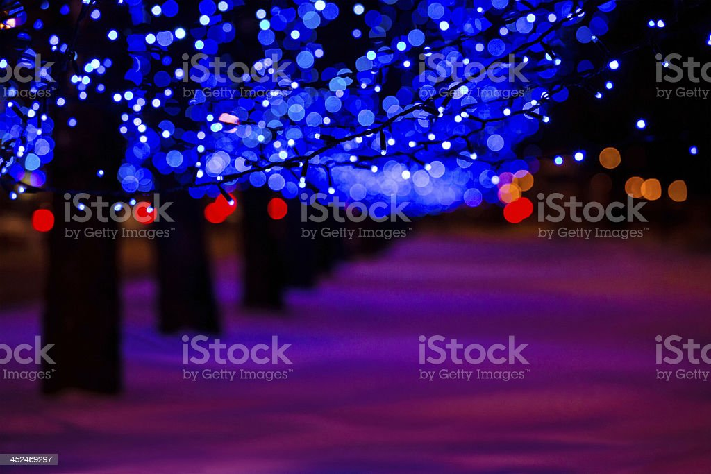 December illumination royalty-free stock photo
