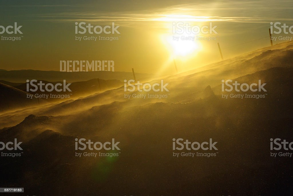 December. Mountains royalty-free stock photo