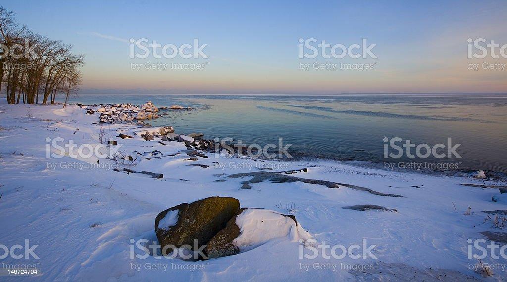 December Shoreilne stock photo