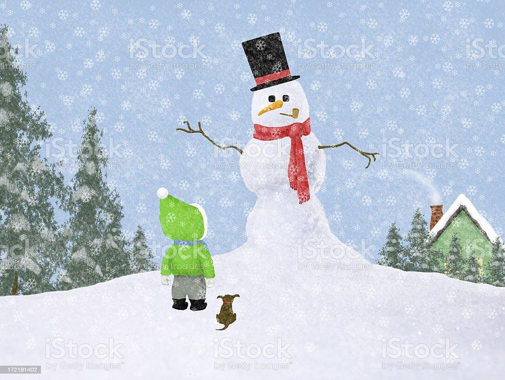 December snowman stock photo