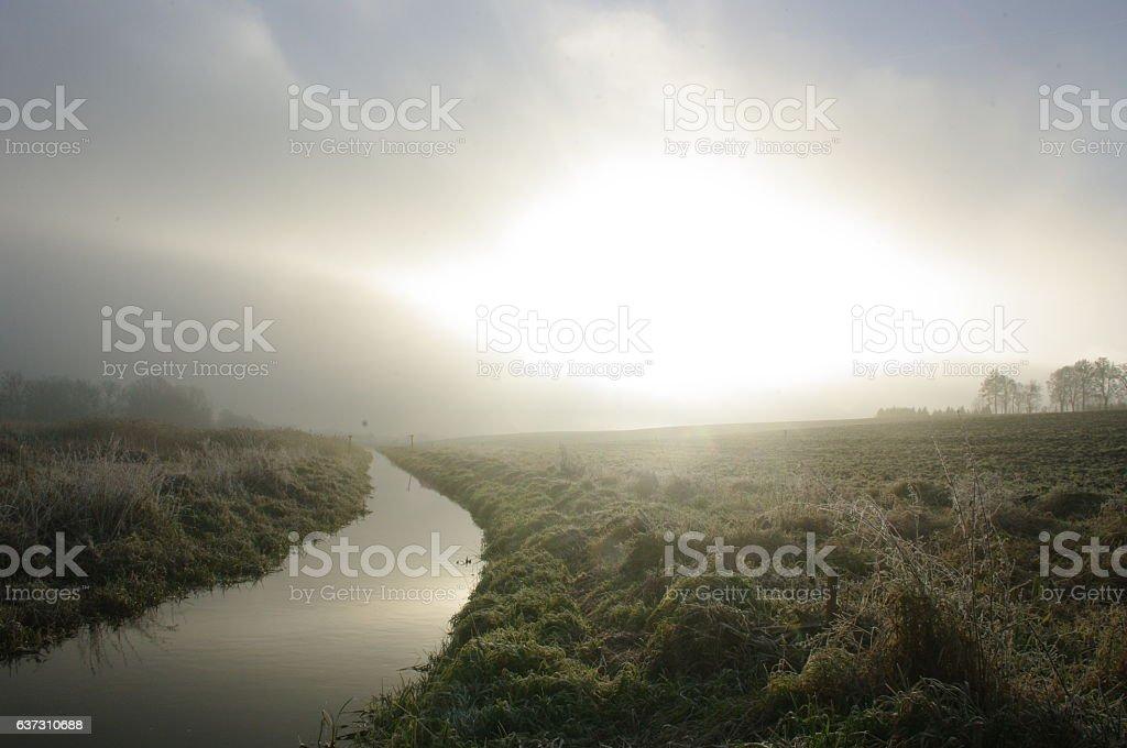 December sunrise stock photo