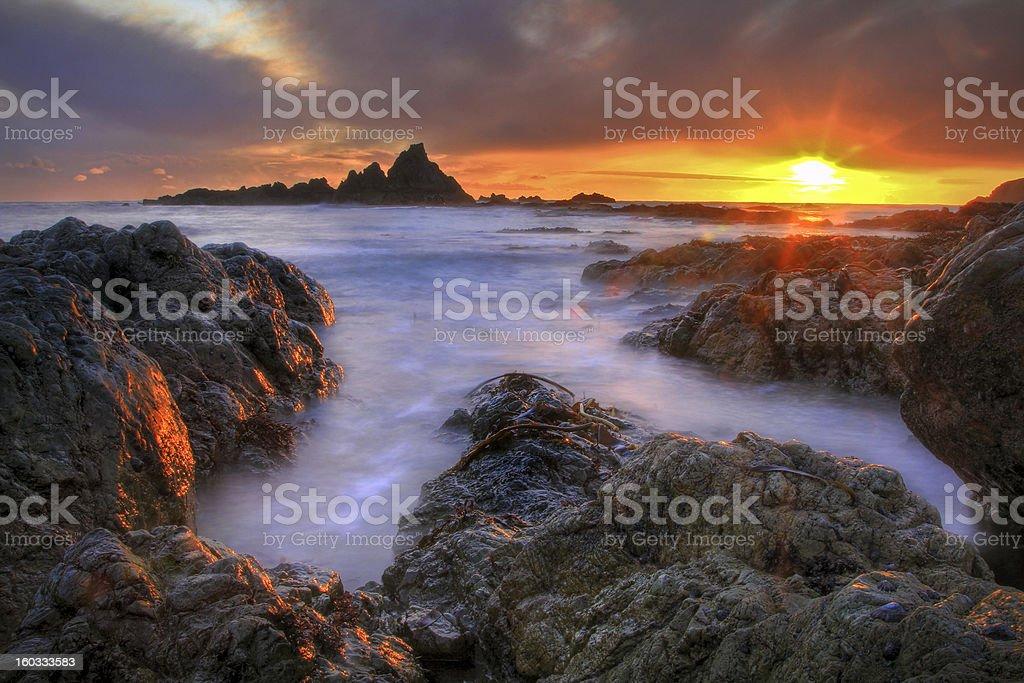 December Sunset stock photo