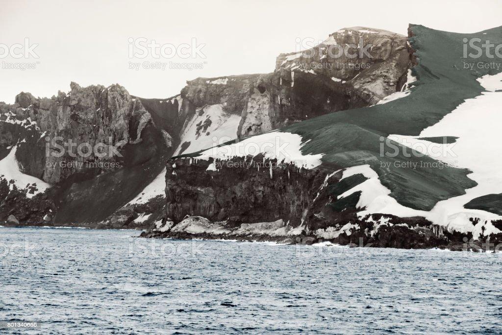 Deception Island, South Shetland Islands archipelago, northwest side of the Antarctic Peninsula. stock photo