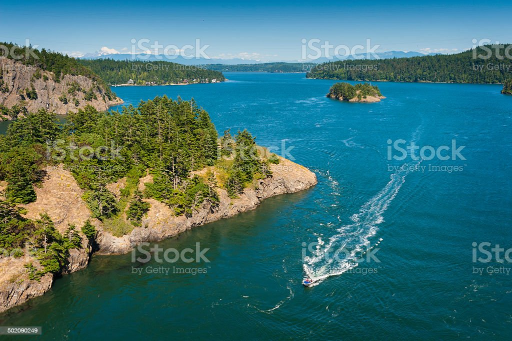Deception Pass State Park, Washington stock photo