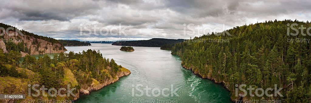 Deception Pass, Washington stock photo
