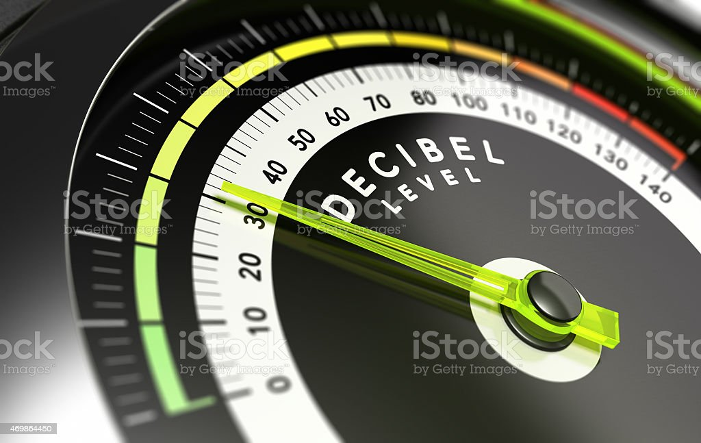 Decibel level, dB stock photo