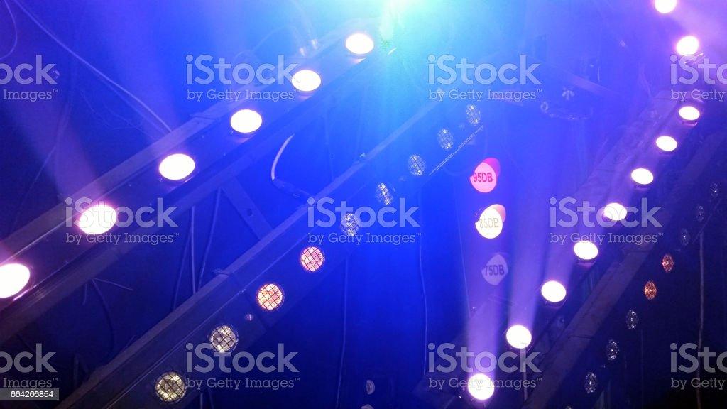 decibel light at a night club stock photo