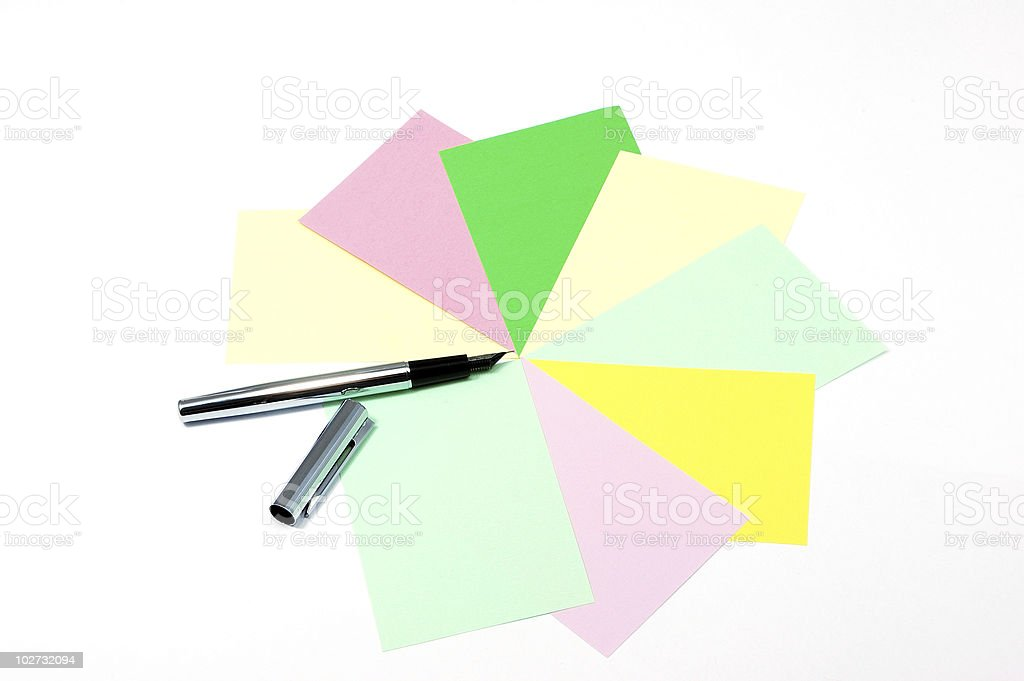 Decide on the right card royalty-free stock photo