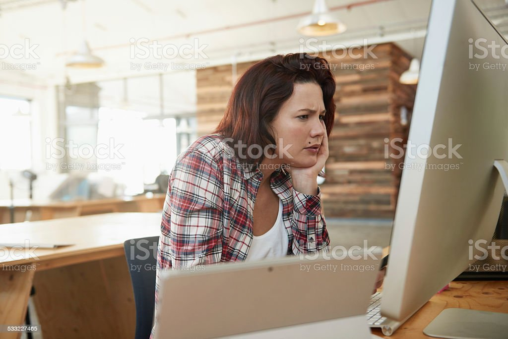 Deciding between designs stock photo