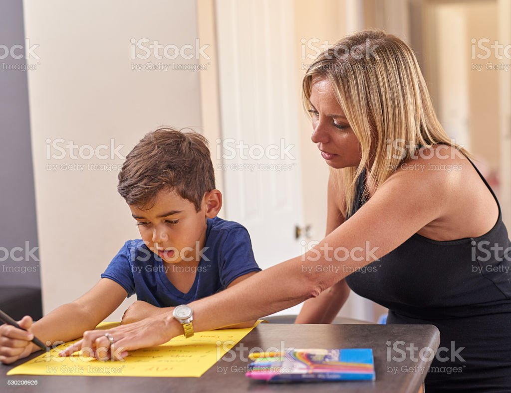 Deciding on age appropriate chores stock photo