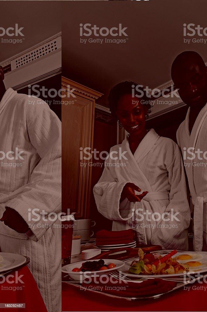 Deciding on Breakfast royalty-free stock photo