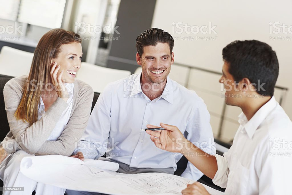 Deciding on the alterations to their home royalty-free stock photo