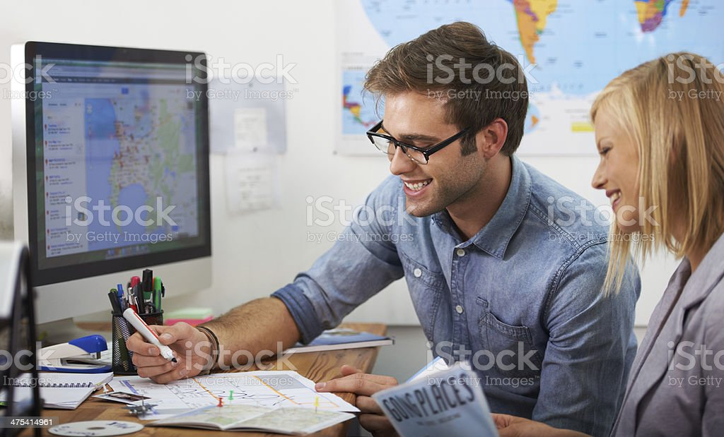 Deciding on the best time to take their vacation stock photo