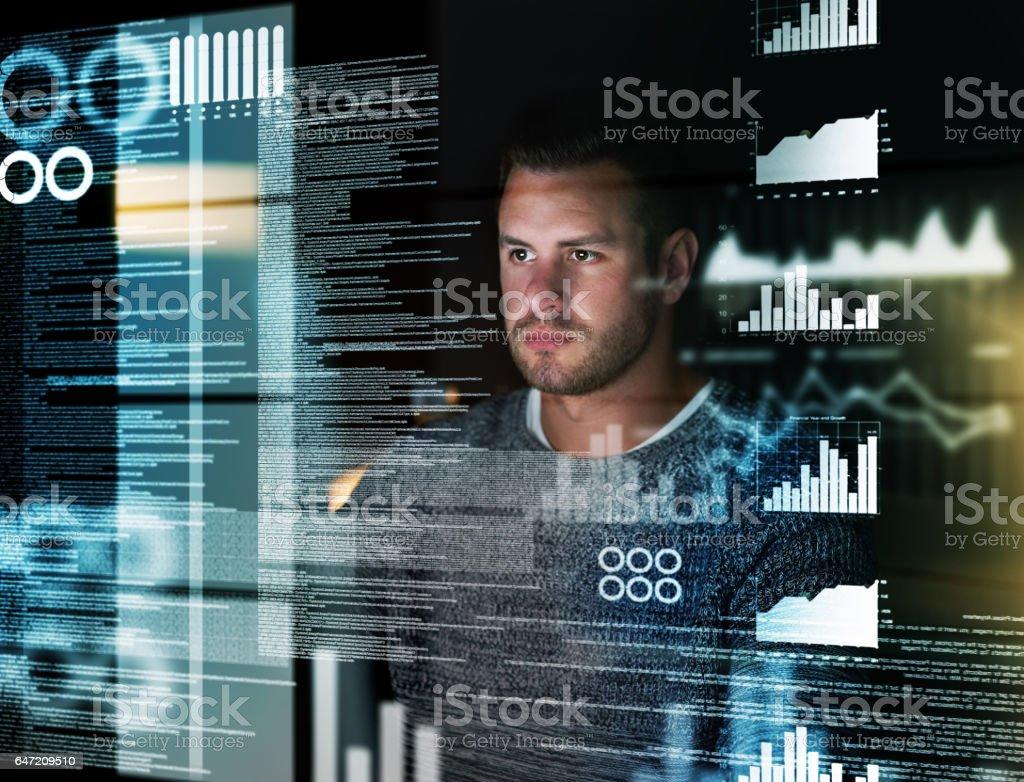 Deciphering the metadata stock photo