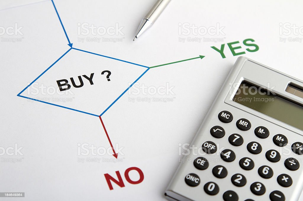 Decision chart buy royalty-free stock photo