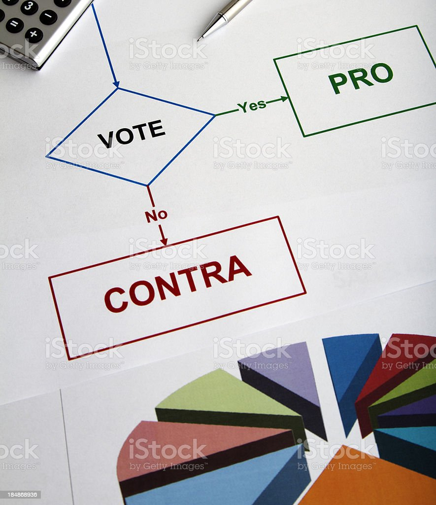 Decision chart for voting stock photo