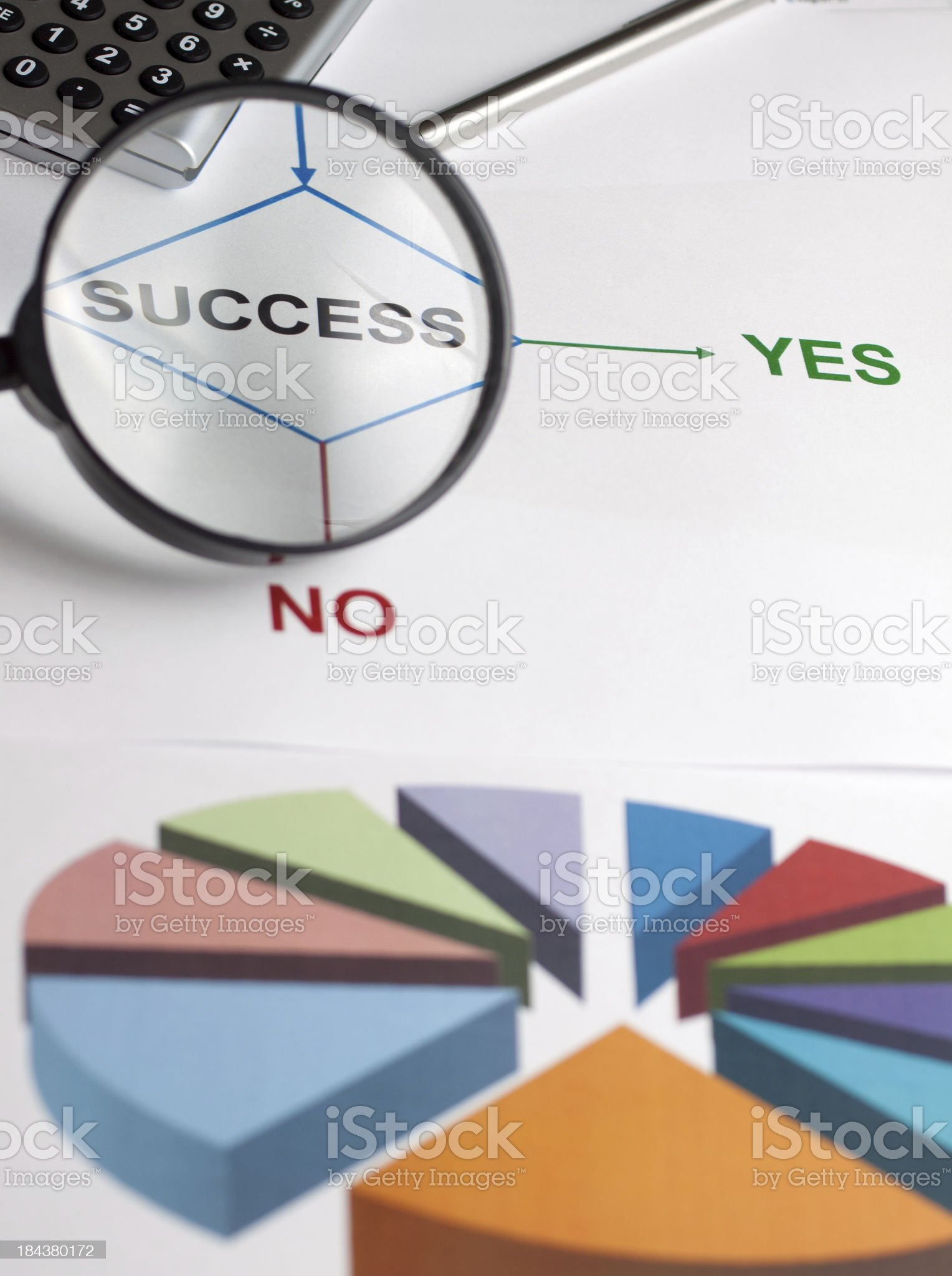 Decision chart success royalty-free stock photo
