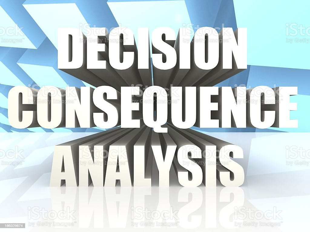 Decision Consequence Analysis royalty-free stock photo