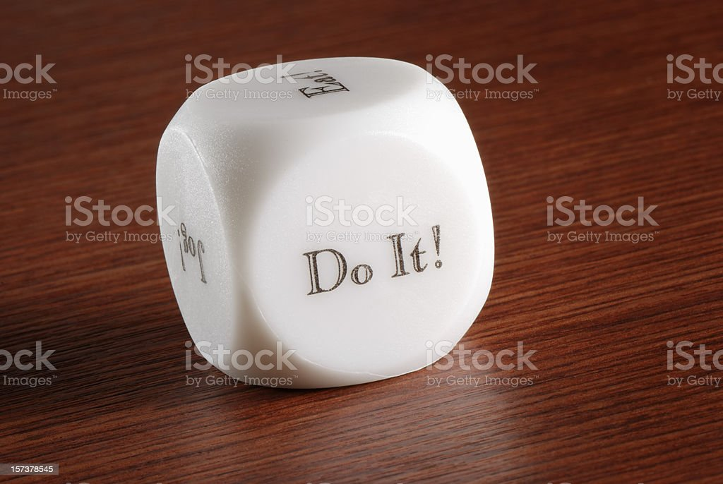 Decision dice royalty-free stock photo