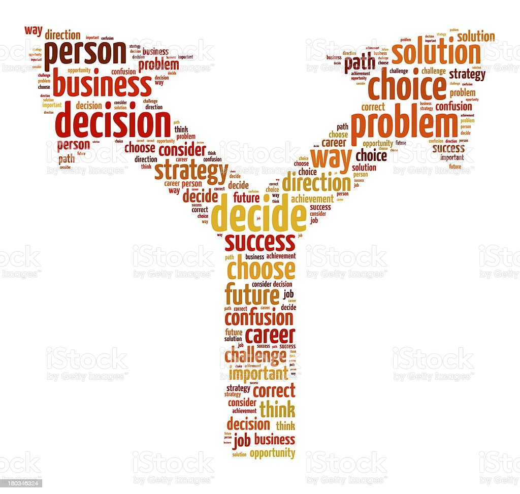 Decision Making Concept royalty-free stock photo