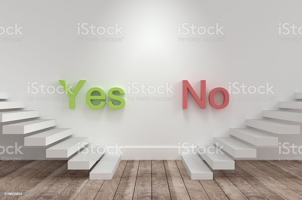 Decision Making, is it Yes or No? stock photo