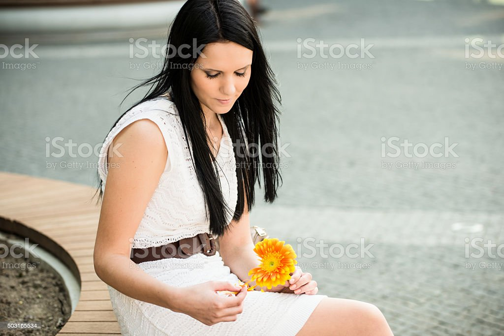 Decision of the flower stock photo