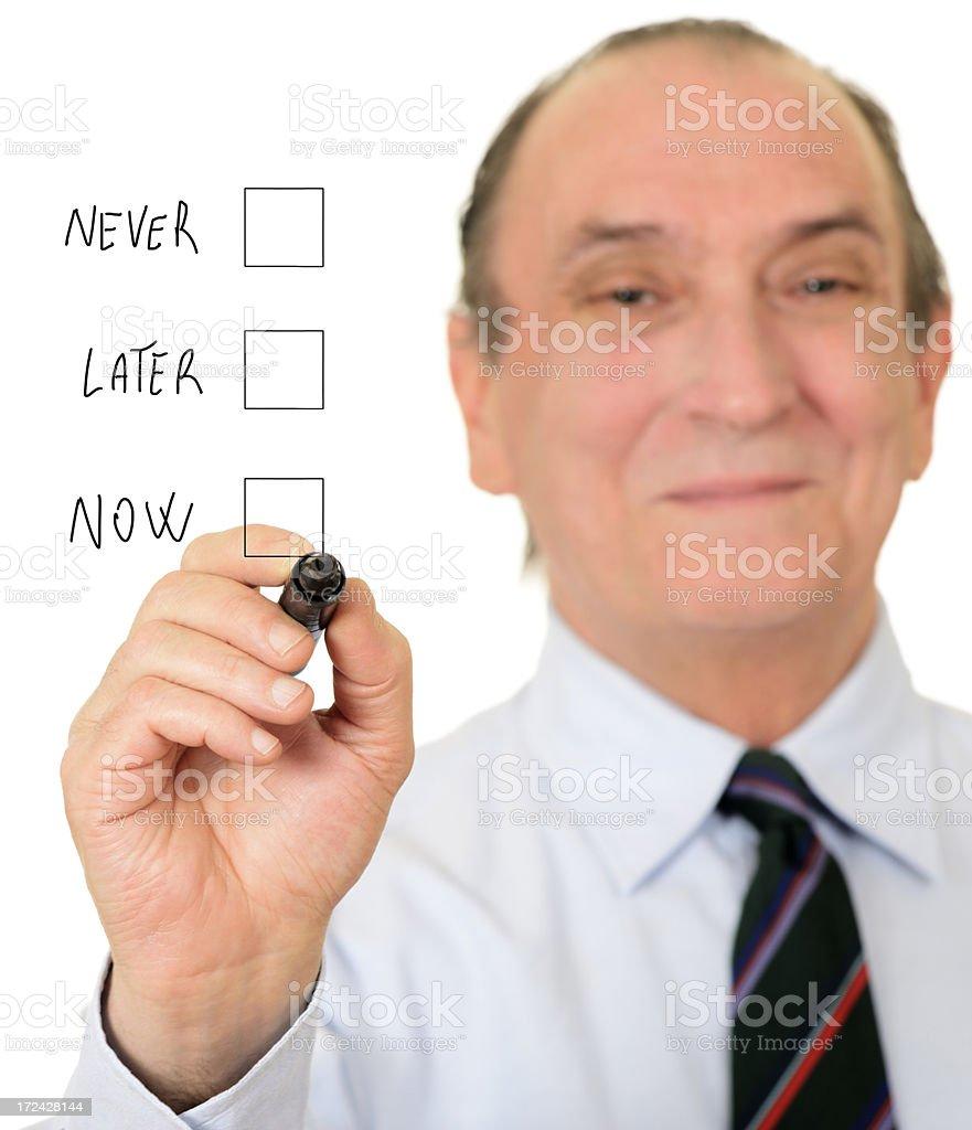 Decision royalty-free stock photo