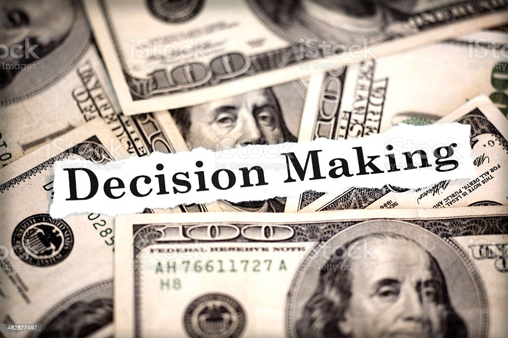 Decision time stock photo