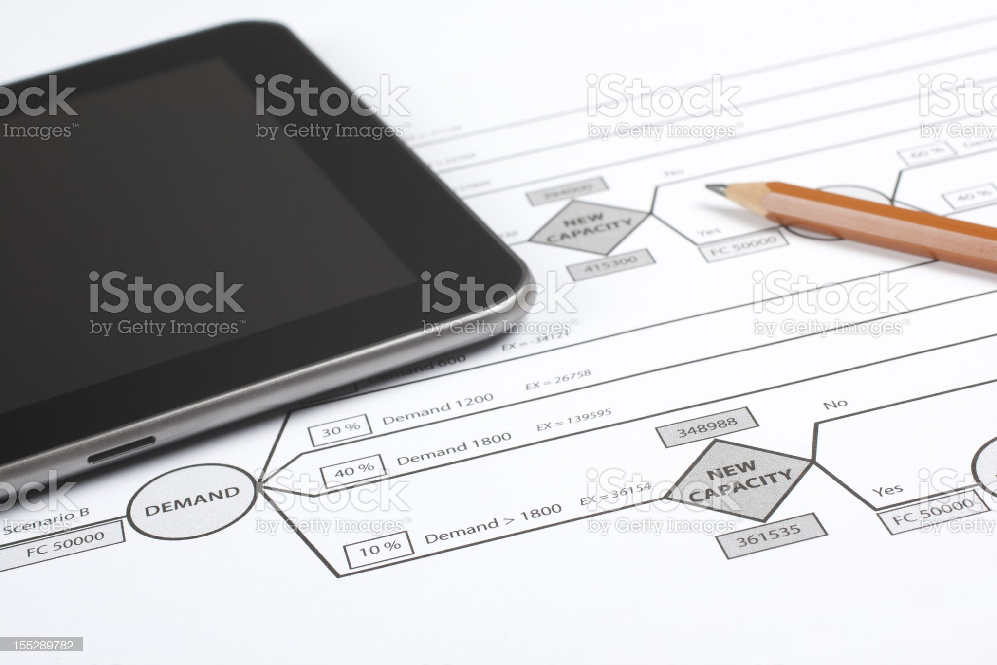 Decision tree (management) royalty-free stock photo