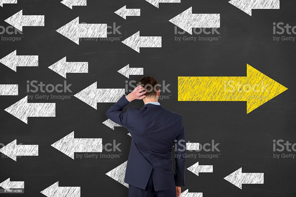 Decisions about the future stock photo