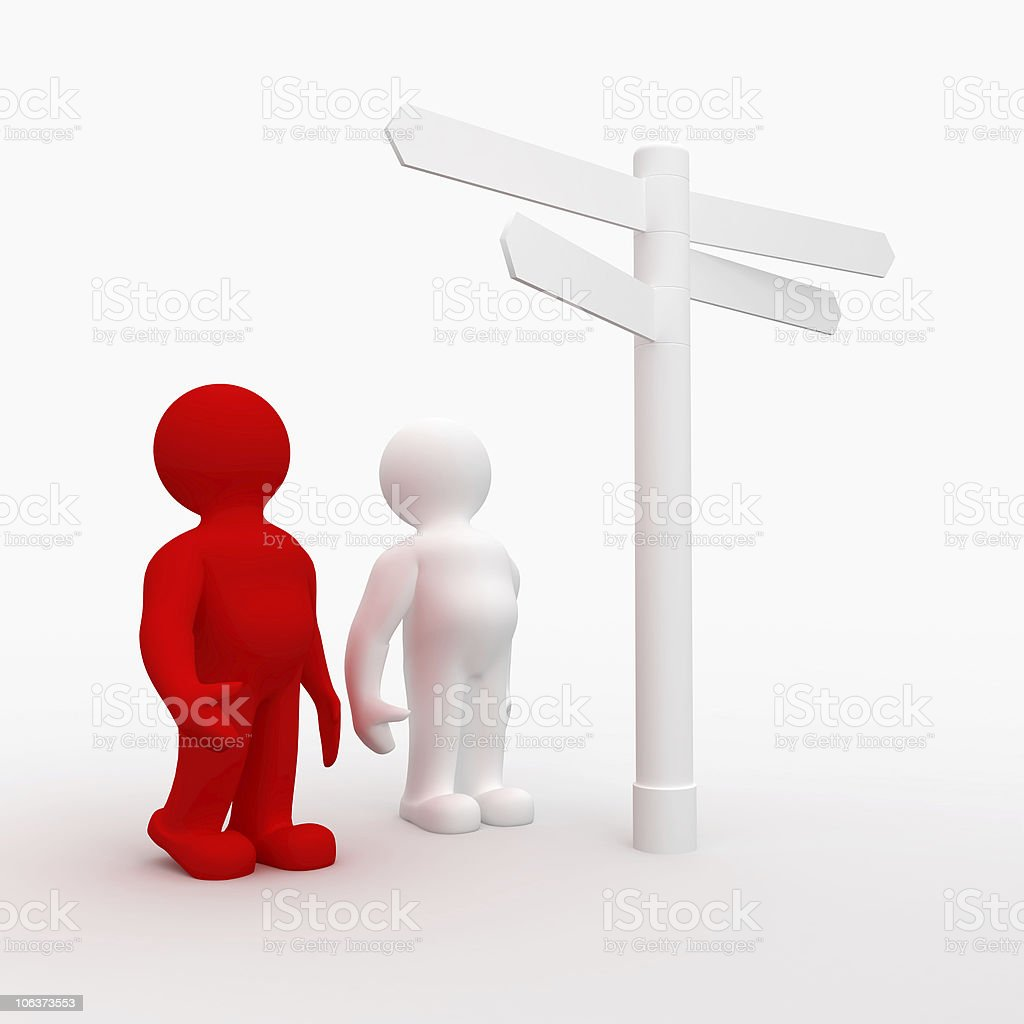 Decisions and Choices Sign, Signpost royalty-free stock photo