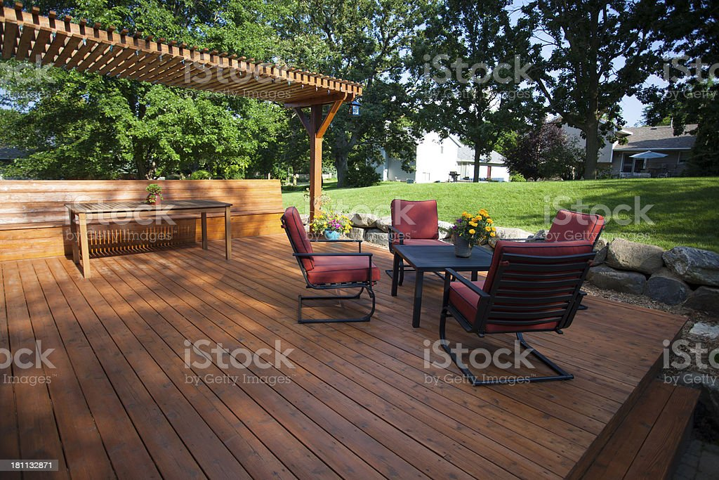 Deck and Pergola stock photo