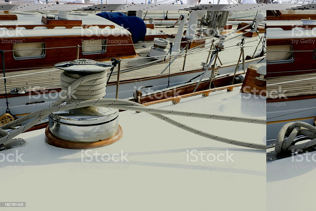Deck and winch stock photo