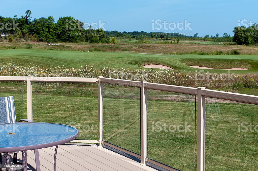 Deck by Golf Course royalty-free stock photo