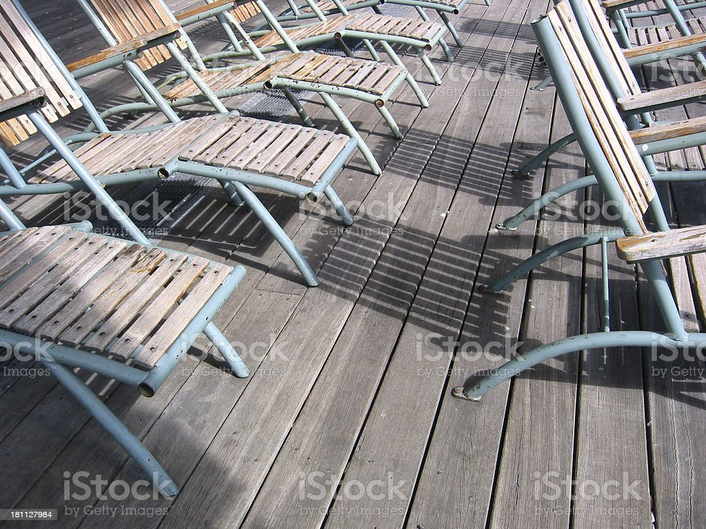 Deck Chair - B royalty-free stock photo