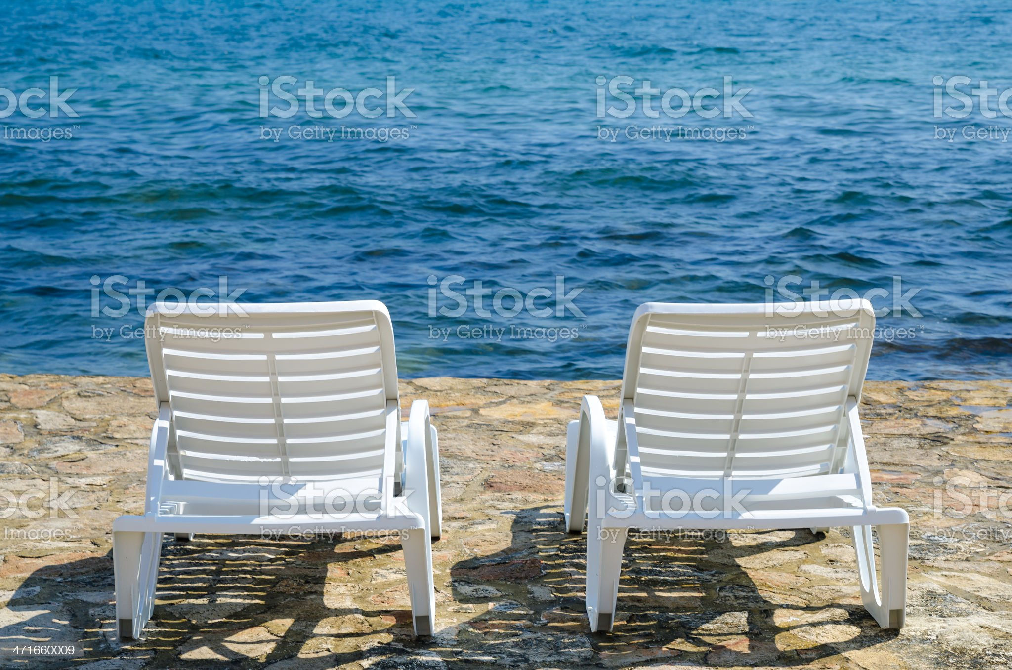 Deck Chair royalty-free stock photo