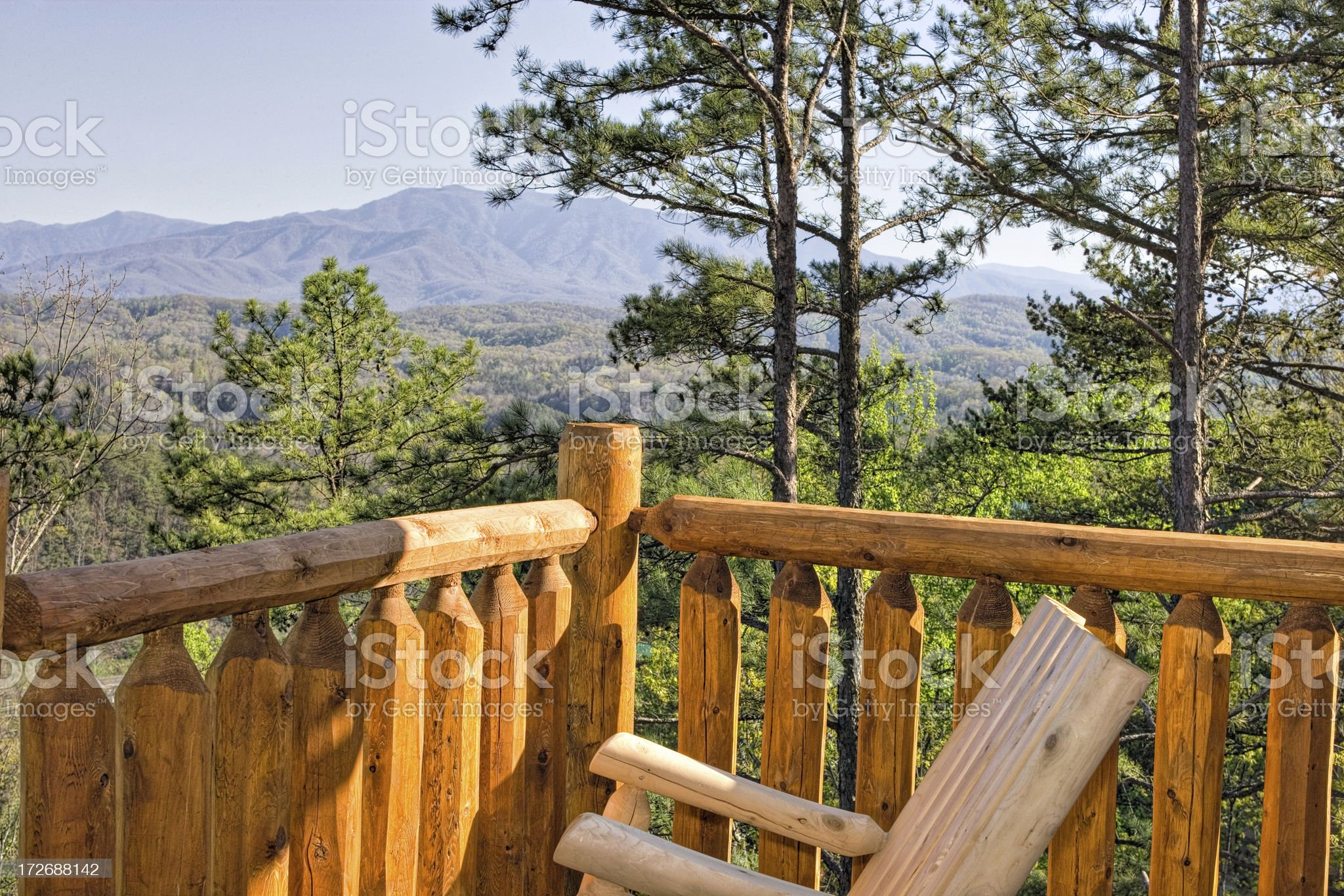 Deck chair with a view royalty-free stock photo