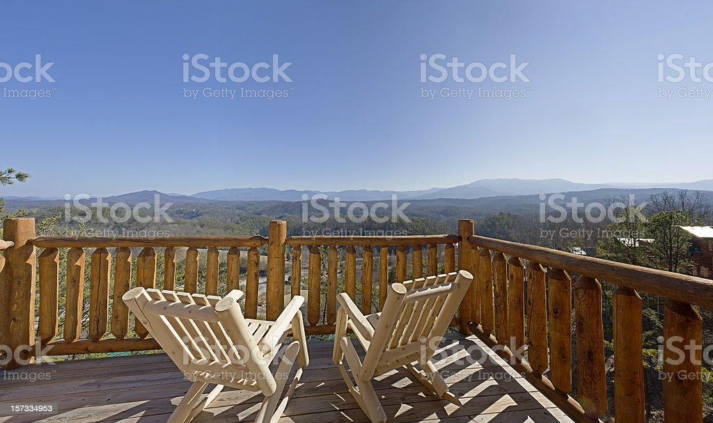 Deck chairs in the sun royalty-free stock photo