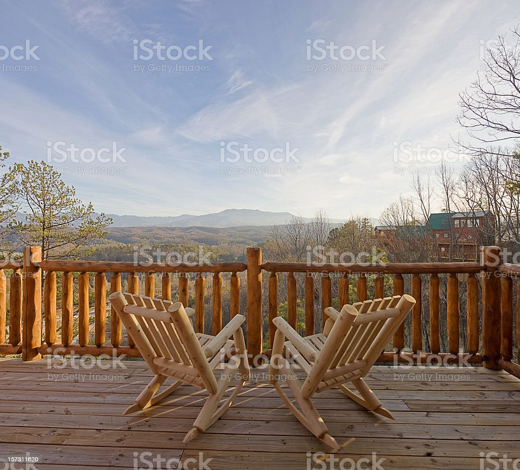 Deck chairs waiting (XXL) royalty-free stock photo