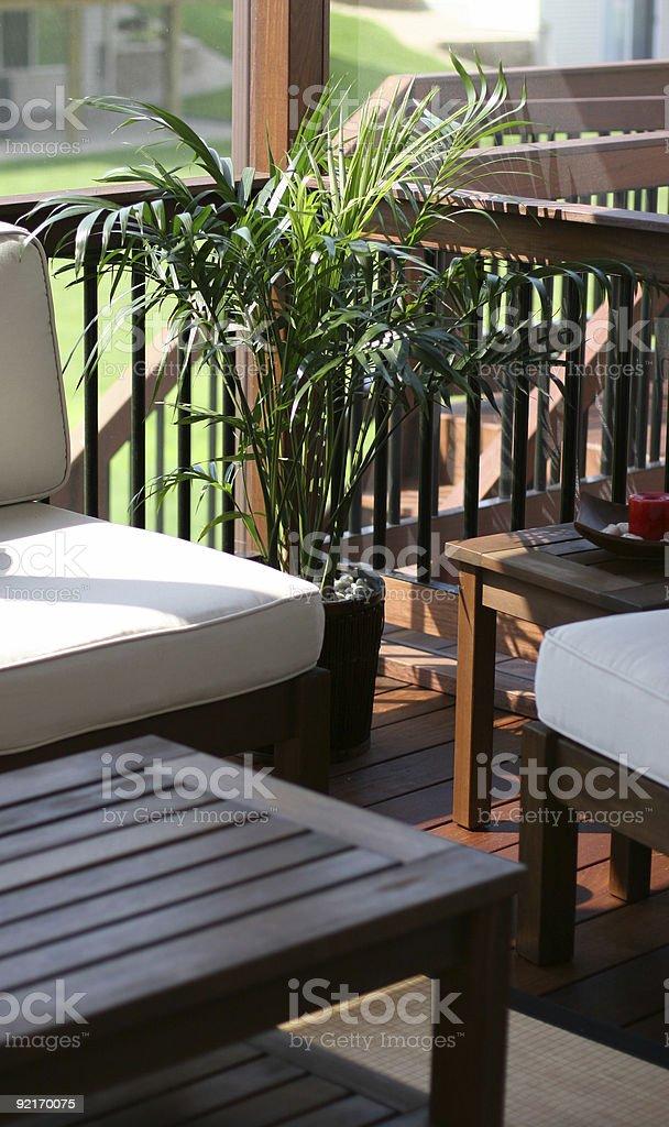 Deck Comfort stock photo