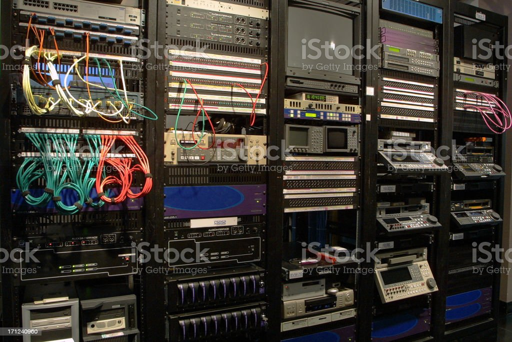 Deck control room stock photo