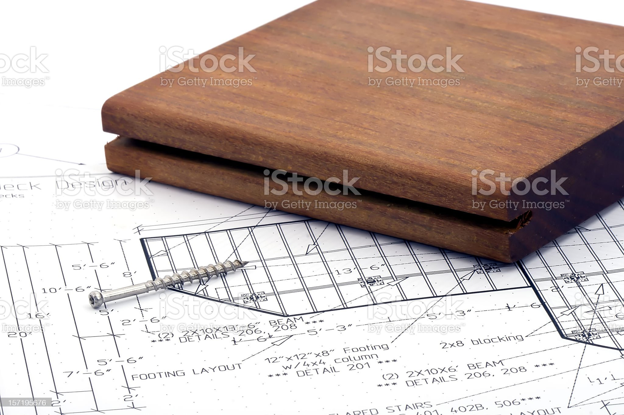 Deck Drawing royalty-free stock photo