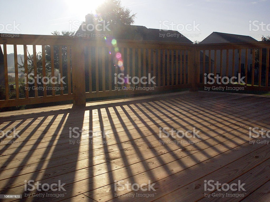 Deck in Morning Sun royalty-free stock photo
