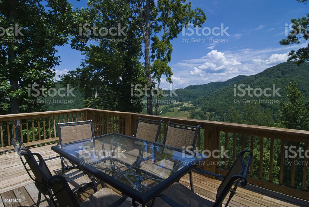 Deck in Mountains royalty-free stock photo
